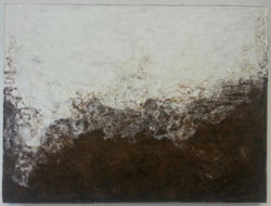 "Adam Series IV, Encaustic and Dirt on Cradled Board, 30""x40""x1.5"", 2015"