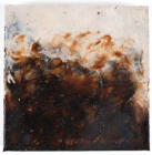 "Adam Series Study IV, Encaustic and Dirt on Cradled Board, 8""x8""x1.5"", 2015"